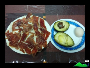 ingredientes aguacate jamon